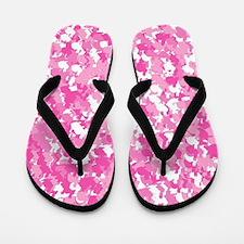 Pink Bunnyflage Flip Flops