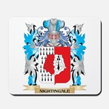 Nightingale Coat of Arms - Family Crest Mousepad