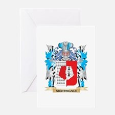 Nightingale Coat of Arms - Family C Greeting Cards