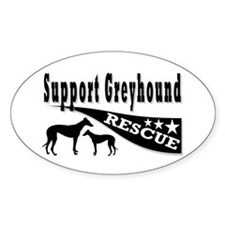 Support Greyhound Rescue Oval Decal