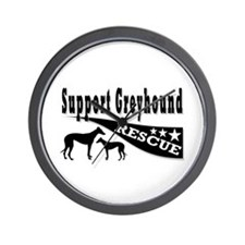 Support Greyhound Rescue Wall Clock