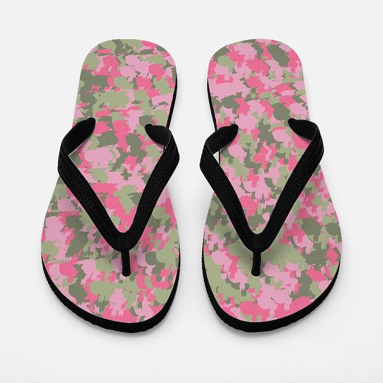 Pink Bunnyflage 2 Flip Flops