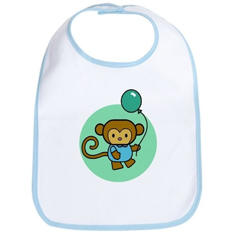 Monkey With Balloon Bib