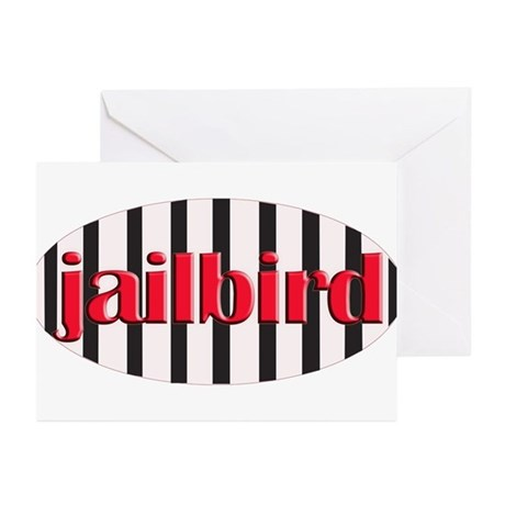 Jail bird Greeting Cards (Pk of 10)