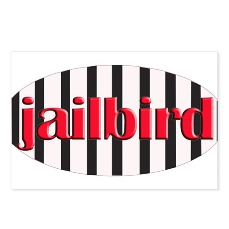 Jail bird Postcards (Package of 8)