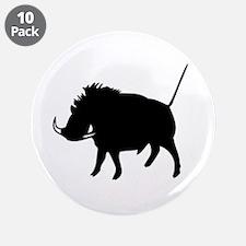 """Wart Hog 3.5"""" Button (10 pack)"""
