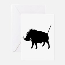 Wart Hog Greeting Cards