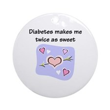 Diabetes Sweet Ornament (Round)
