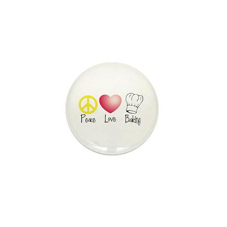 Peace, Love, Baking Mini Button (10 pack)
