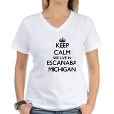 Keep calm we live in Escanaba Michigan T-Shirt