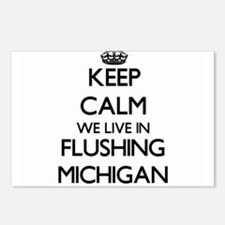 Keep calm we live in Flus Postcards (Package of 8)