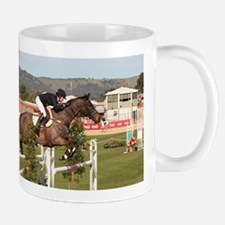 Show jumping horse and rider, Adelaide, South Mugs