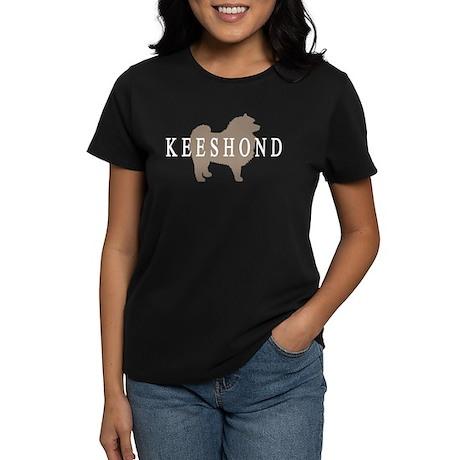 Keeshond Dog & Text Women's Dark T-Shirt
