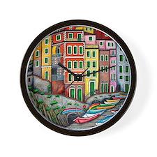 Colours of Riomaggiore Wall Clock
