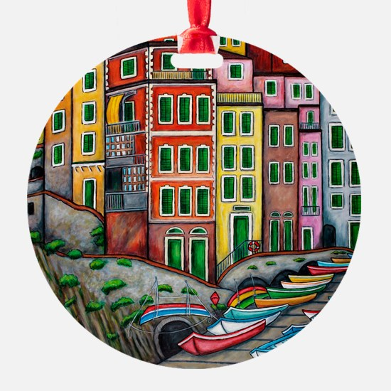 Colours of Riomaggiore Ornament