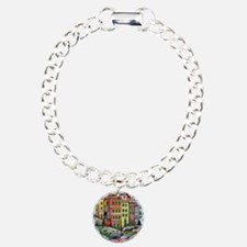 Colours of Riomaggiore Charm Bracelet, One Charm