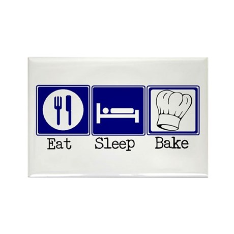 Eat, Sleep, Baking Rectangle Magnet