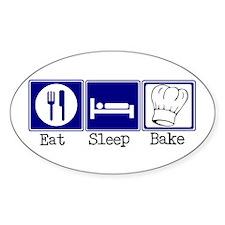 Eat, Sleep, Baking Oval Decal