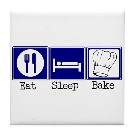 Eat, Sleep, Baking Tile Coaster