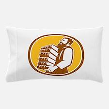 Saint Jerome Carrying Books Retro Pillow Case