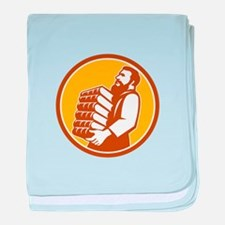 Saint Jerome Carrying Books Retro baby blanket