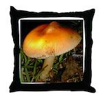 Golden Umbrella Throw Pillow