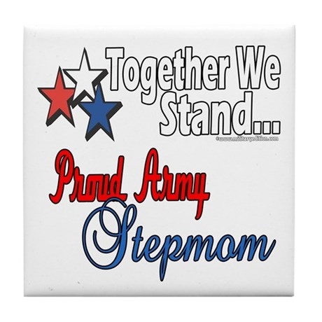 Army Stepmom Tile Coaster