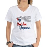 Army stepmom Womens V-Neck T-shirts