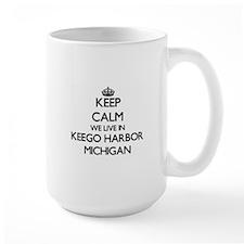 Keep calm we live in Keego Harbor Michigan Mugs