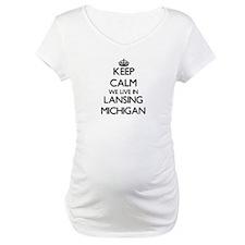 Keep calm we live in Lansing Mic Shirt