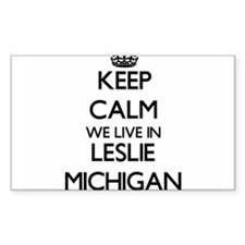 Keep calm we live in Leslie Michigan Decal