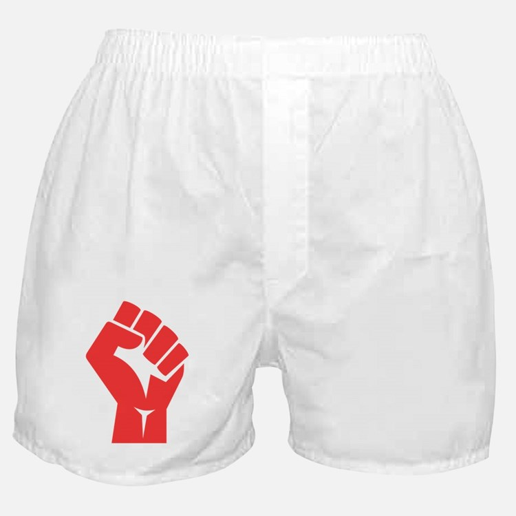 Red Power Fist Boxer Shorts
