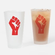 Red Power Fist Drinking Glass