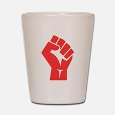 Red Power Fist Shot Glass