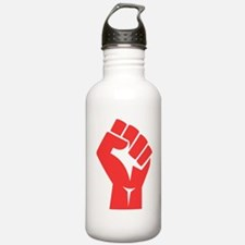 Red Power Fist Water Bottle