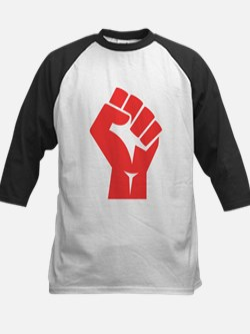 Red Power Fist Baseball Jersey
