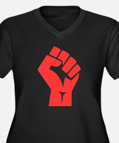Red Power Fist Plus Size T-Shirt