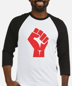 Red Power Fist Baseball Jersey