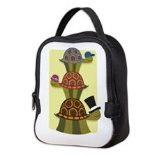 Turtles in Hats Neoprene Lunch Bag
