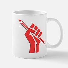 Red Writer Power Mugs