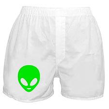 Neon Green Alien Boxer Shorts