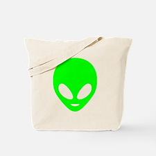 Neon Green Alien Tote Bag