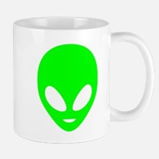 Neon Green Alien Mugs