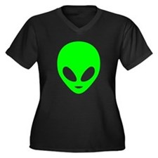 Neon Green Alien Plus Size T-Shirt