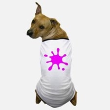 Pink Splatter Dog T-Shirt