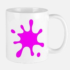Pink Splatter Mugs