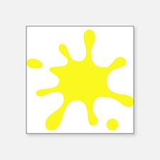 Yellow Splatter Sticker