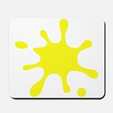 Yellow Splatter Mousepad