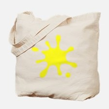 Yellow Splatter Tote Bag