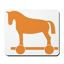 Orange Trojan Horse Mousepad